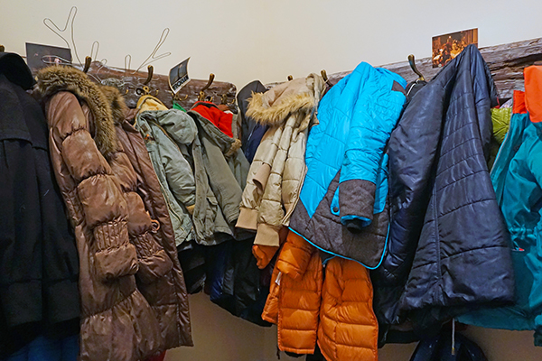winter clothes closet