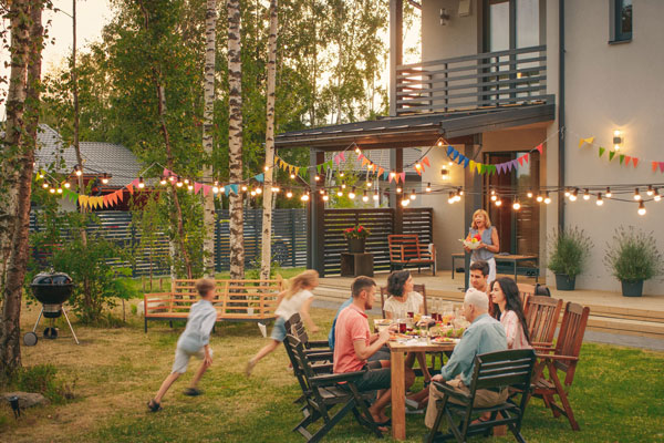 Summer outdoor party
