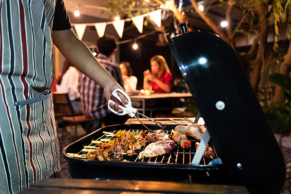 food being cooked on a grill