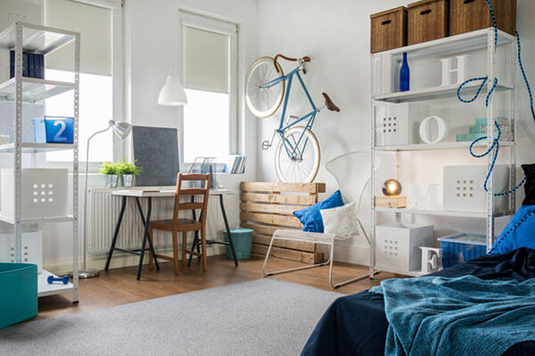 The living space of a small apartment